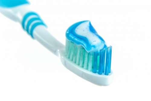 toothbrush toothpaste blue gel health