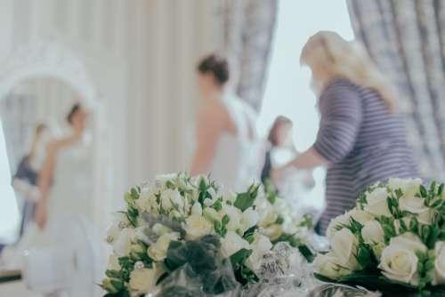 wedding dress bride preperation wedding woman