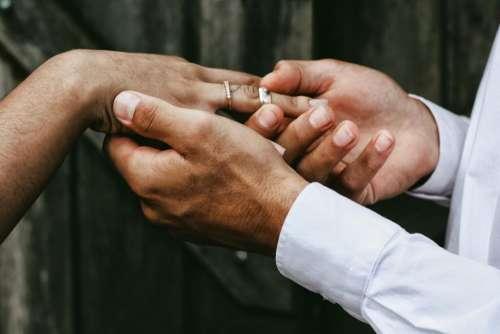 people couple wedding ring marriage