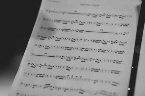 still items things music sheet