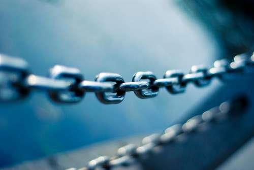 steel metal chain blur
