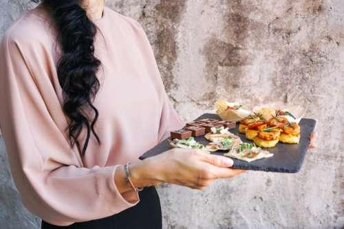 people girl woman serving food