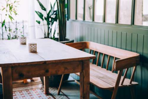 simple home dining table seat
