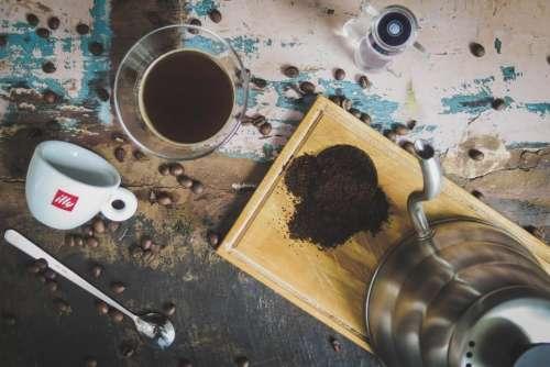 table coffee bean seed hot