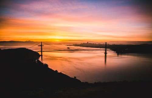 San Francisco Bridge SF ocean sunrise