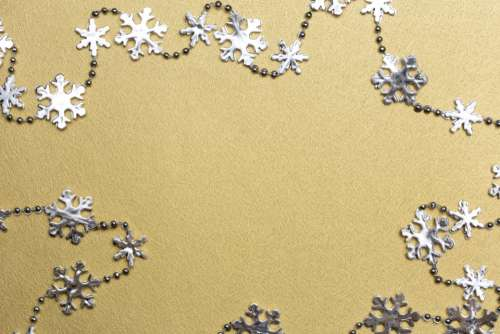 silver gold snowflakes snow decorations