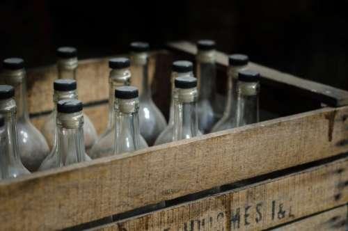 vintage crate glass bottles beer