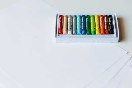 colorful pen art drawing box