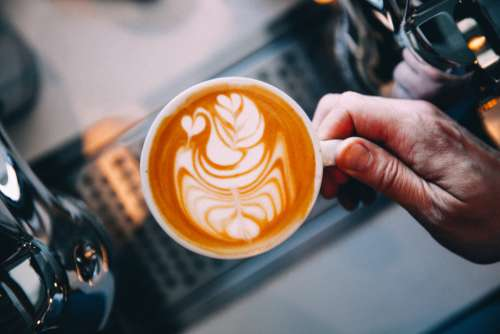 barista latte art coffee hot coffee