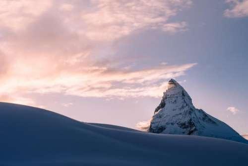 snow winter mountain hill rocks