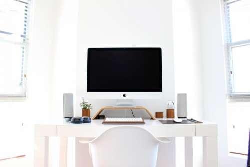 office work workspace business desk