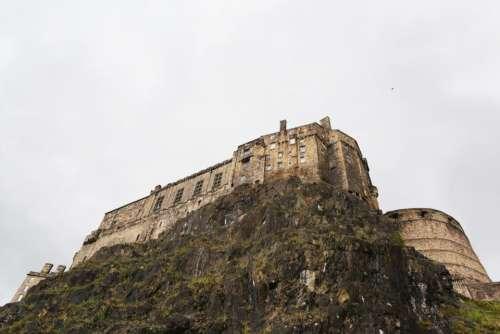 castle building architecture stones rocks