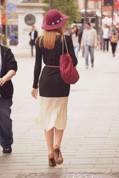 stylish street woman lady person