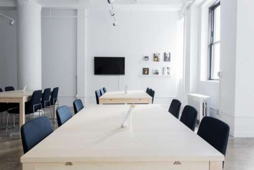 interior design tables chairs white