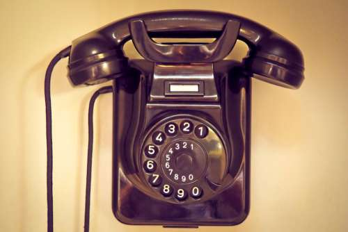 telephone vintage phone retro black