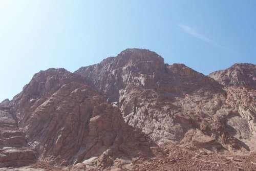 Mount Sinai mountains rocks sunshine