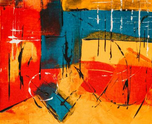 colorful abstract art paint acrylic