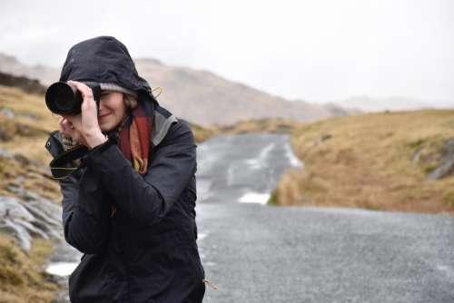 people woman camera photographer photography