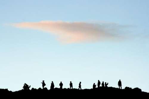 nature landscape sky clouds people
