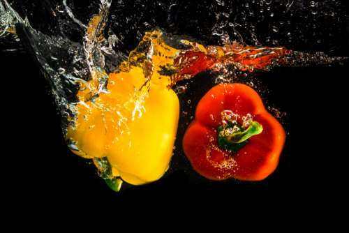 fruits vegetables vegetable yellow pepper red pepper