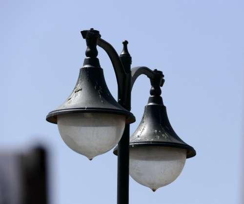street lamp sky light energy