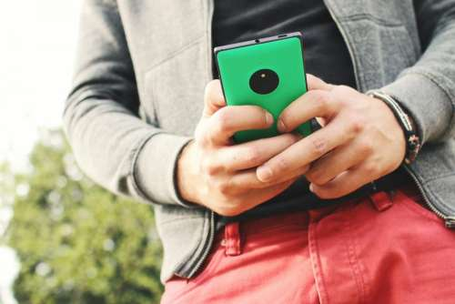 mobile texting smartphone hands technology