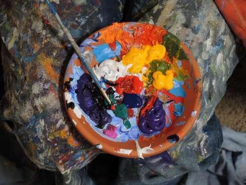paint brush colours colors art