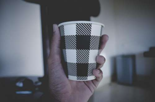 cup hand palm drink