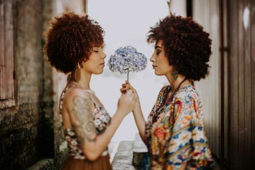 woman fashion afro hair beautiful