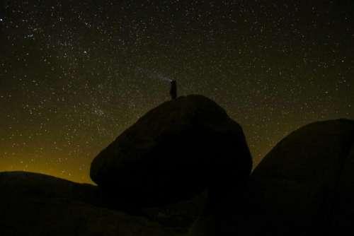 nature landscape dark night travel