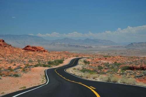 rural road desert landscape nature