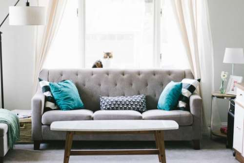 house interior sofa couch pillow