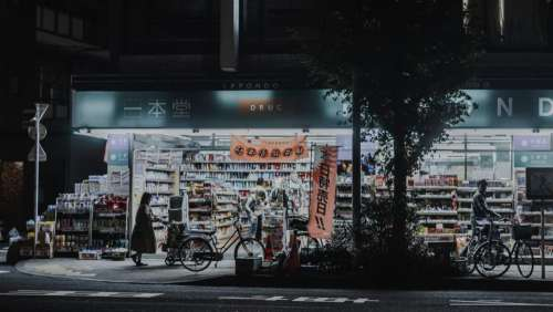 architecture building convenience store grocery