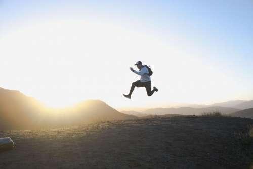 people man jump happy enjoy