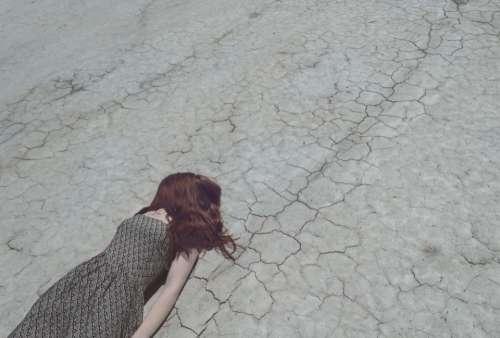 people woman road crack hair