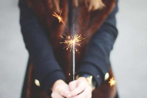 sparkler fire fireworsk candle new years