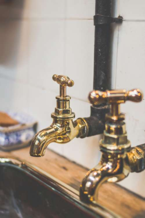 taps gold vintage classic brass