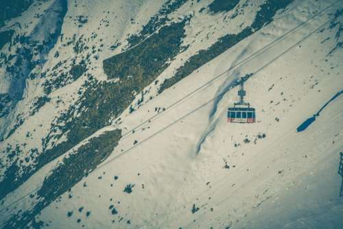 cable car ride adventure snow