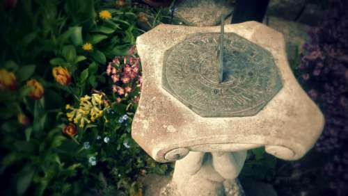 time sundial garden flowers gardens