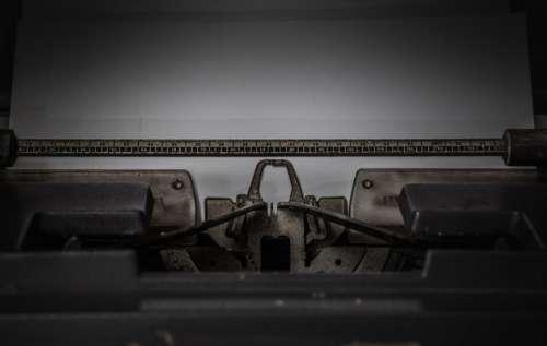 paper vintage typewriter type keys