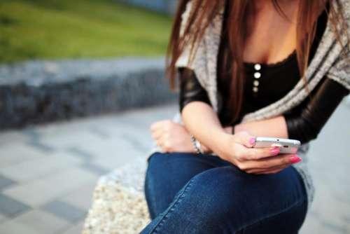 girl woman smartphone mobile technology
