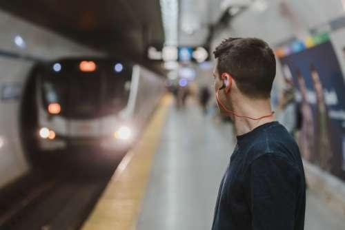 train ariive station underground subway