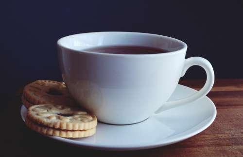 teacup tea coffee cookies drinks
