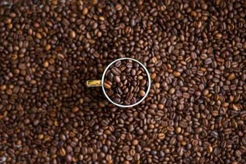 coffee beans cup mug texture