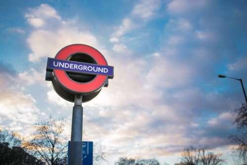 london underground clouds train metro