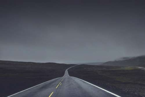 rural road highway countryside horizon