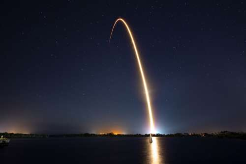 rocket space night launch liftoff
