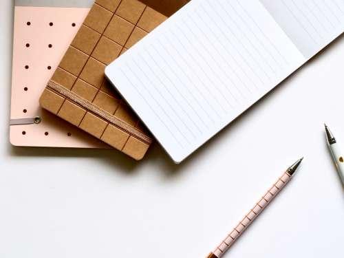 writing pads pens business desk
