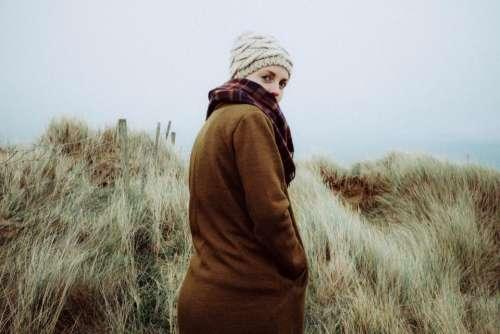 people girl woman green grass