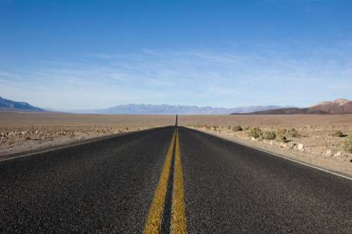 highway road pavement desert dirt